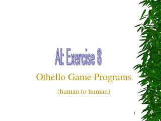 AI: Exercise 8