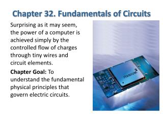Chapter 32. Fundamentals of Circuits