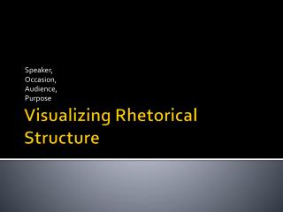 Visualizing Rhetorical Structure