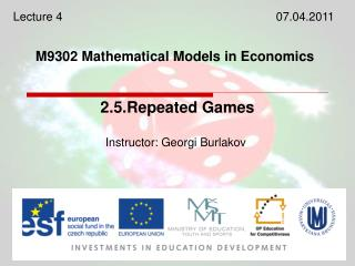 M9302 Mathematical Models in Economics