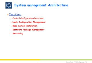 System management Architecture