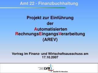 Amt 22 - Finanzbuchhaltung
