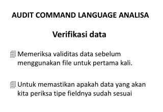 Verifikasi  data