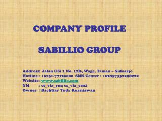 COMPANY PROFILE SABILLIO GROUP
