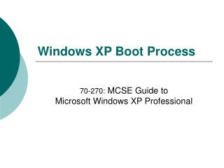 Windows XP Boot Process