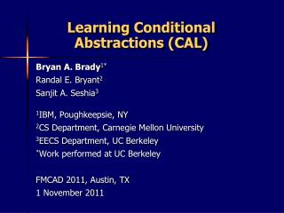 Learning Conditional Abstractions (CAL)