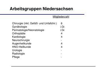 Arbeitsgruppen Niedersachsen