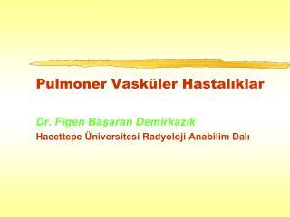 Pulmoner Vask�ler Hastal?klar Dr. Figen Ba?aran Demirkaz?k
