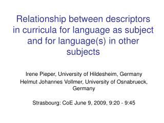 Irene Pieper, University of Hildesheim, Germany