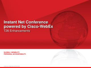 Instant Net Conference  powered by Cisco-WebEx