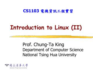 Introduction to Linux (II)