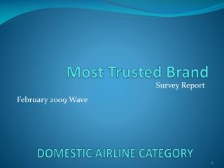 DOMESTIC AIRLINE CATEGORY