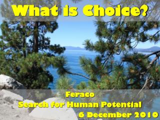 What is Choice?