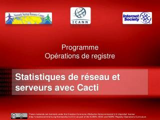 Statistiques de réseau et serveurs avec Cacti