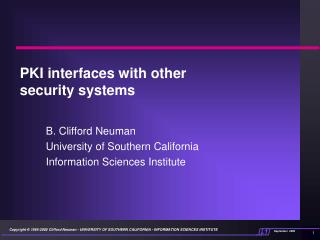 PKI interfaces with other security systems