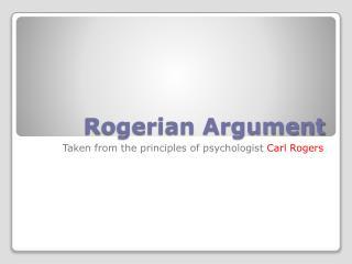 Rogerian Argument
