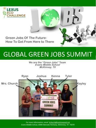 GLOBAL GREEN  JOBS  SUMMIT