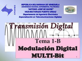 Tema 1-B Modulación Digital MULTI-Bit
