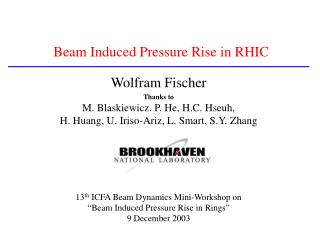 Beam Induced Pressure Rise in RHIC