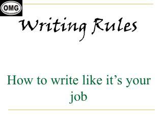 Writing Rules