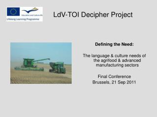 LdV-TOI Decipher Project
