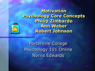 Motivation Psychology Core Concepts Philip Zimbardo Ann Weber Robert Johnson