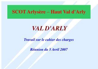 SCOT Arlysère – Haut Val d'Arly