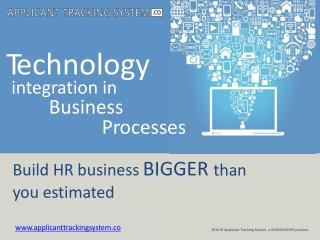 Technology integration in HR Business Processes