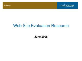 Web Site Evaluation Research