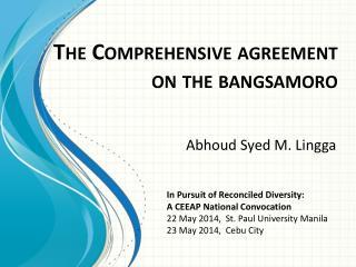 The Comprehensive agreement  on the bangsamoro