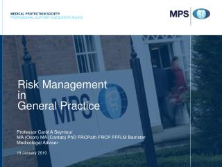 Risk Management in General Practice