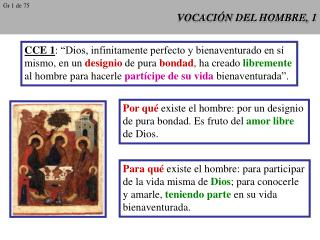 VOCACI�N DEL HOMBRE, 1