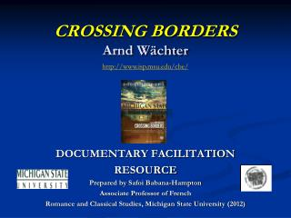 CROSSING BORDERS Arnd W�chter