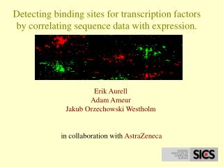 Detecting binding sites for transcription factors by correlating sequence data with expression.