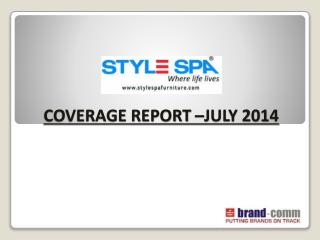 COVERAGE REPORT –JULY 2014