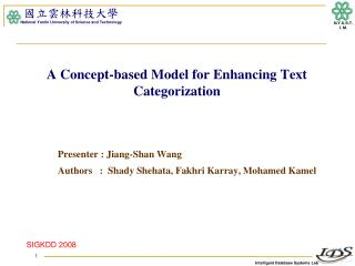 A Concept-based Model for Enhancing Text Categorization