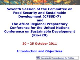 20 - 25 October 2011 Introduction and Objectives