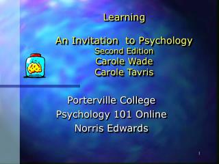 Learning   An Invitation  to Psychology Second Edition Carole Wade Carole Tavris