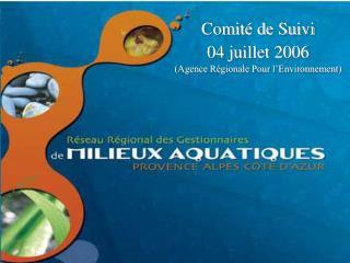Comité de Suivi 04 juillet 2006 (Agence Régionale Pour l'Environnement)