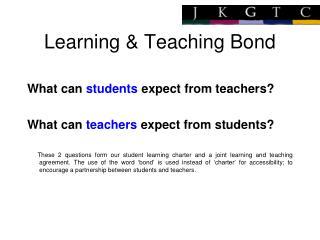 Learning & Teaching Bond