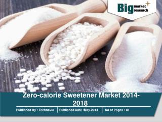 Zero-calorie Sweetener Market 2014-2018