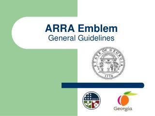 ARRA Emblem General Guidelines