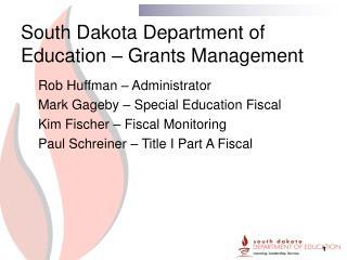 South Dakota Department of Education – Grants Management