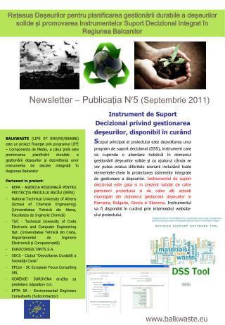 Newsletter – Publicaţia Ν r 5  (Septembrie 2011)