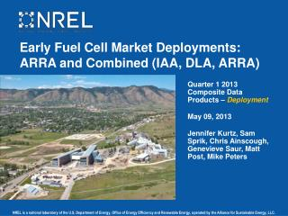 Early Fuel Cell Market Deployments: ARRA and Combined (IAA, DLA, ARRA)