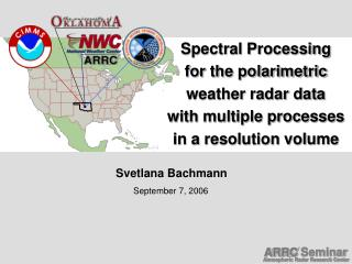 Spectral Processing  for the polarimetric  weather radar data  with multiple processes