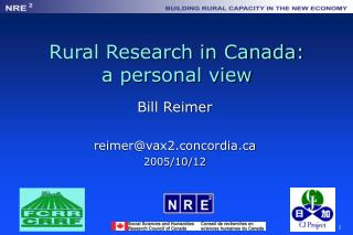 Rural Research in Canada: a personal view