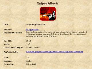Sniper Attack For Android