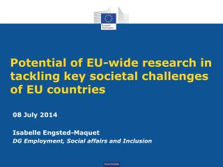 Potential of EU-wide research in tackling key societal challenges of EU countries
