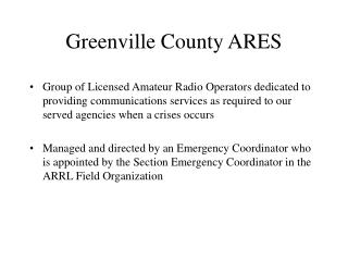 Greenville County ARES